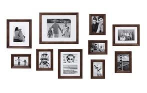 kate and laurel brown wooden frame set