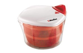 mueller large 5l salad spinner vegetable washer with bowl