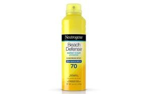 neutrogena beach defense spray sunscreen spf 70