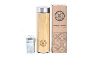 original bamboo tumbler with tea infuser & strainer