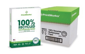 printworks 100 percent recycled multipurpose paper
