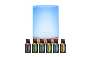 urpower 300ml essential oil diffuser with 6 bottles 10ml