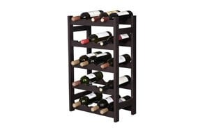 vasagle wood 20 wine display rack