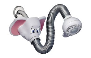 waterpik safari spray elephant kid's shower head