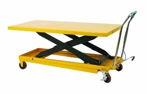 wesco scissor lift table with handle