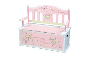 wildkin fairy wishes toy box bench