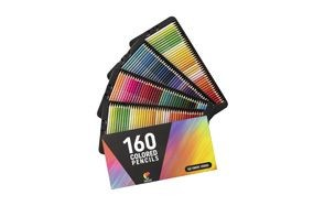 zenacolor 160 colored pencils with cardboard case