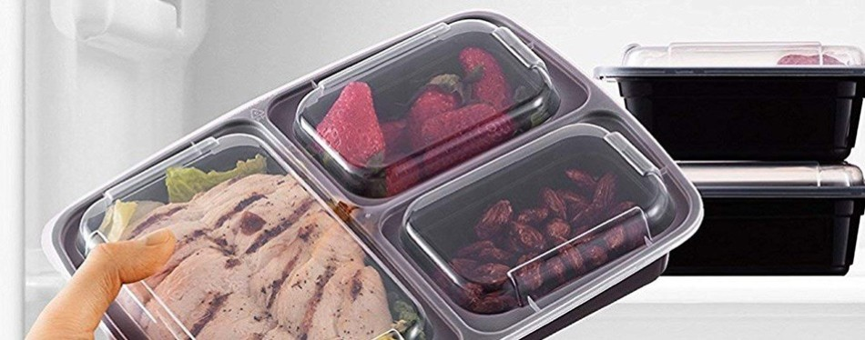 Paksh Bento Style 10 Pack Meal Prep Containers