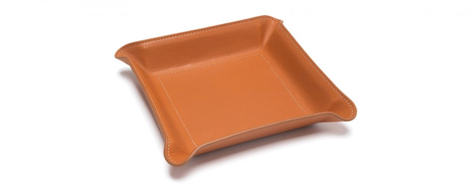 Paul Stuart Leather Valet Tray