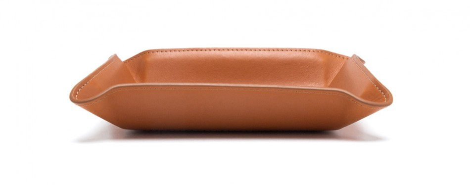 Paul Stuart Leather Valet Tray