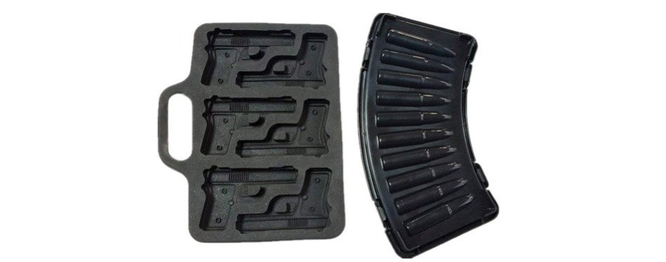 Pistol And Bullet Ice Cube Tray