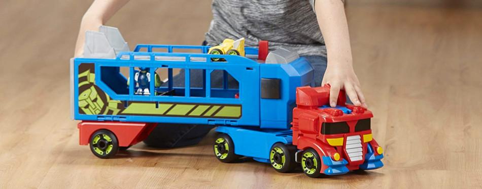 Playskool Heroes Transformers Rescue Bots Optimus Prime Trailer Playset
