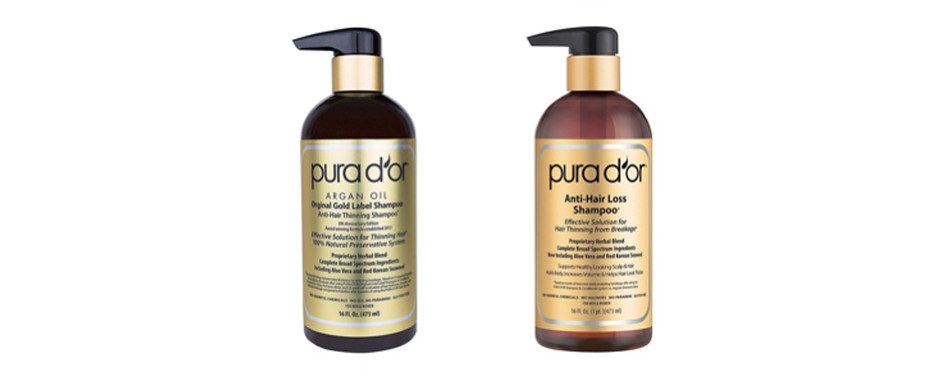 Pura D'Or Gold Label Deep Moisturizing Shampoo and Conditioner Set