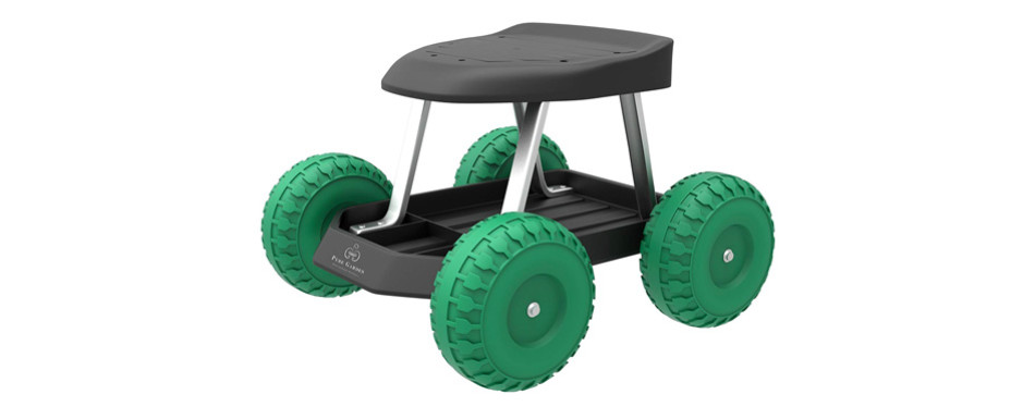 Pure Garden Rolling Scooter Stool
