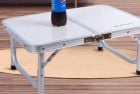 REDCAMP Small Folding Table Adjustable Height