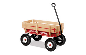 Radio Flyer Steel And Wood Wagon For Kids