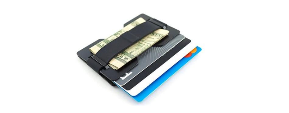 Radix One Black Steel Metal Wallet