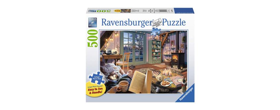 Ravensburger Cozy Retreat 500 Piece Large Format Puzzle