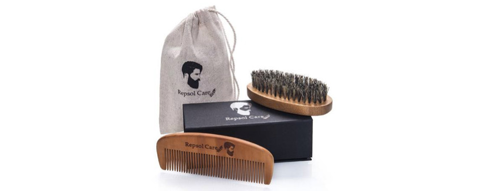 Repsol Care Beard Brush and Beard Comb kit for Men