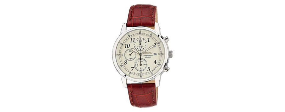 Seiko Men's Classic Steel Chronograph Watch