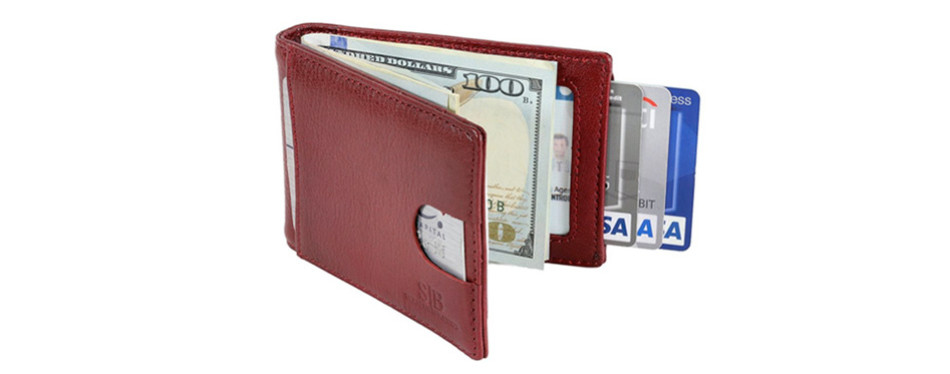 Serman Brands RFID Blocking Bifold Slim Wallet