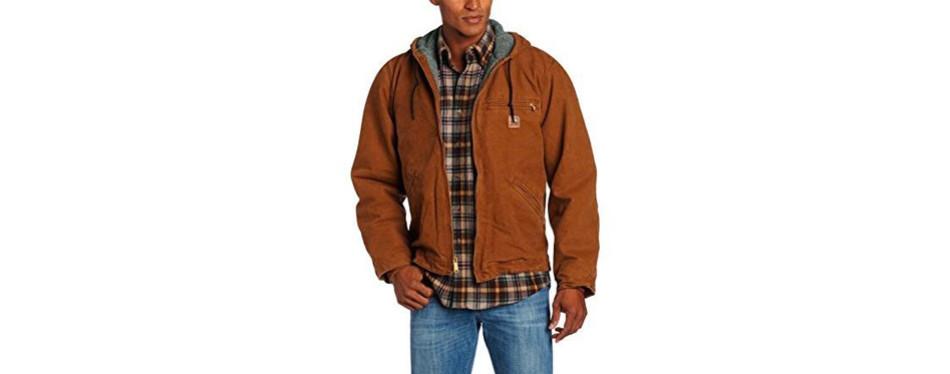 Sherpa Lined Sandstone Sierra Carhartt Jacket J141