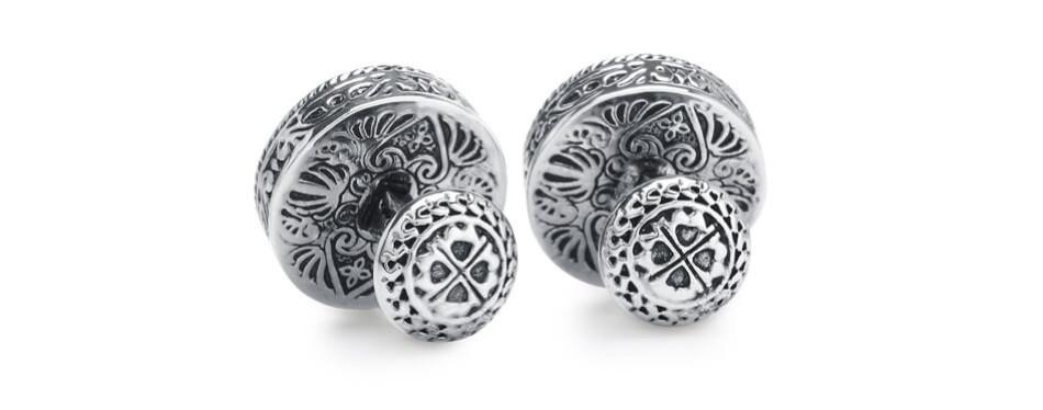 Silver Clover Men's Silver & 18K Gold Cufflinks
