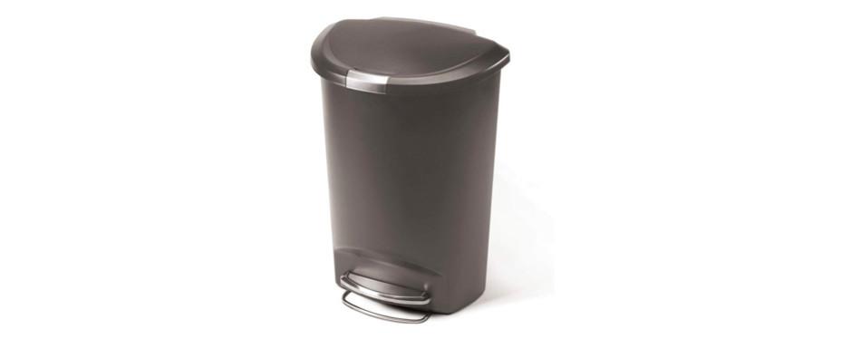 Simplehuman 13 Gallon Semi-Round Kitchen Step Trash Can