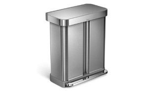 Simplehuman 15.3 Gallon Stainless Steel Rectangular Kitchen Step Can
