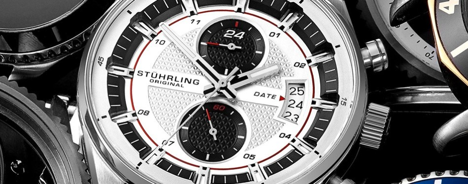 Stainless Steel True Dual Stuhrling Watch