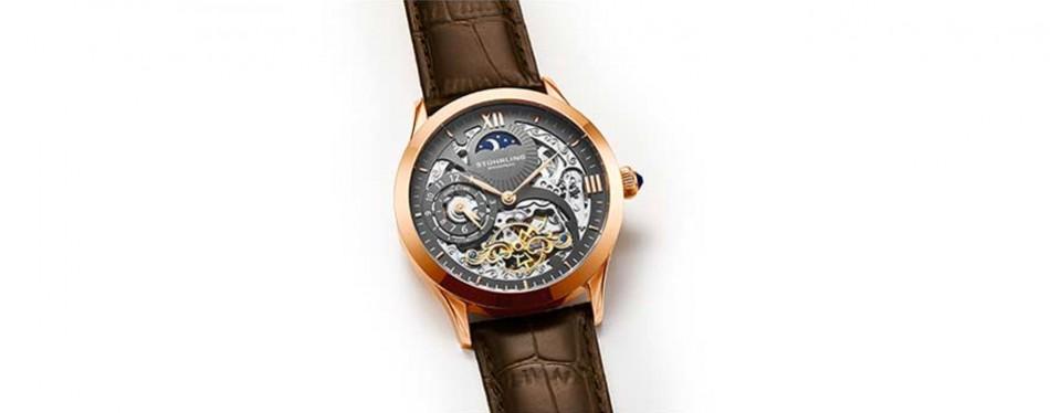 Stuhrling Original Men's Stainless Steel Automatic Skeleton Watch