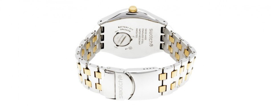 Swatch Irony Tico-Toco Gold Dial Stainless Steel Men's Watch