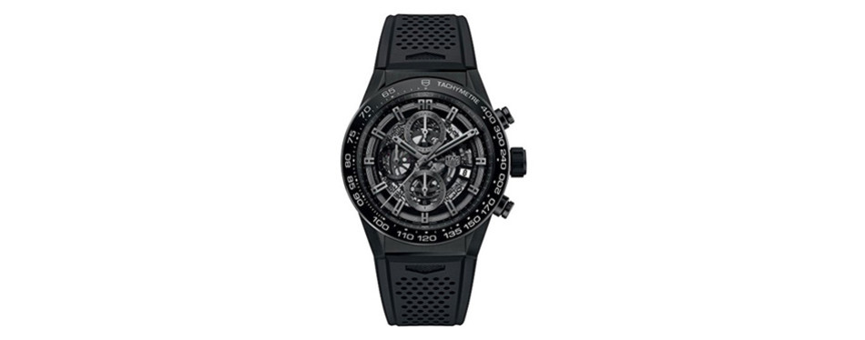 TAG Heuer Carrera Black Skeleton Watch