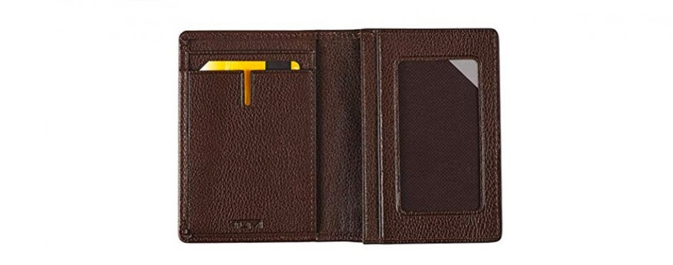 TUMI Men's Nassau Gusseted Business Card Holder