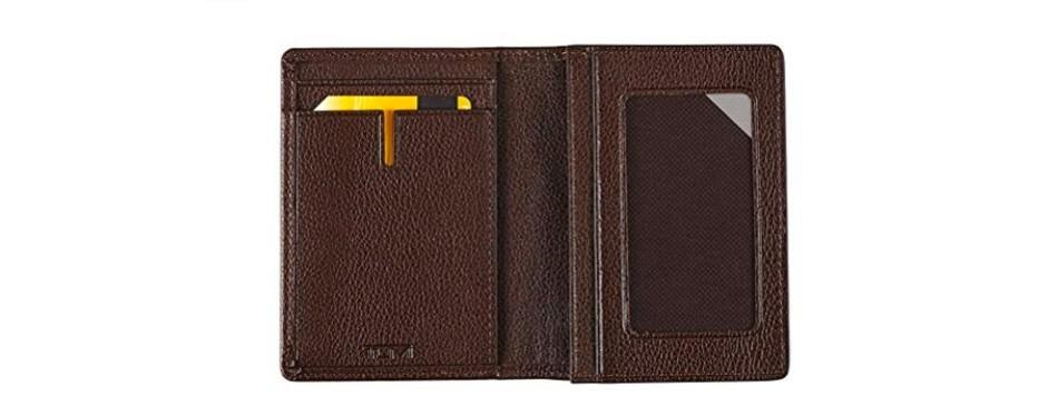 TUMI Men's Nassau Gusseted Business Card Holder
