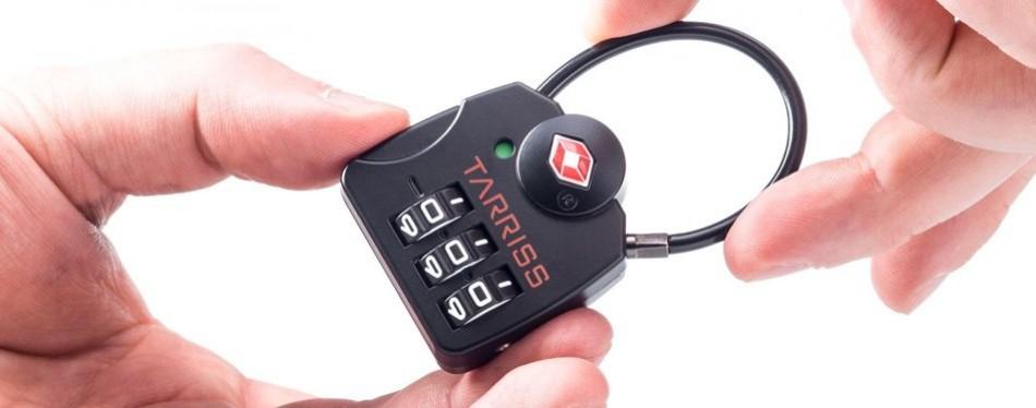 Tarriss TSA Lock with SearchAlert Luggage Tracker