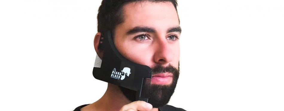 The Black Beard Beard Shaping & Styling Tool with Inbuilt Comb