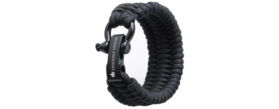 The Friendly Swede 500lb Paracord Survival Bracelet