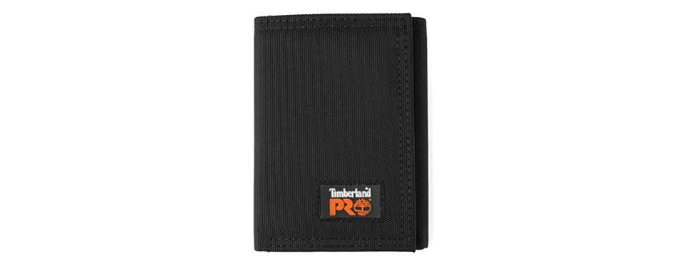 Timberland PRO Men's Cordura Nylon RFID Trifold Wallet
