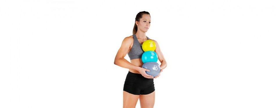 Tone Fitness Soft Weighted Exercise Ball