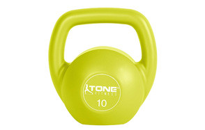 Tone Fitness Vinyl Coated Cement Filled Kettlebell Weight