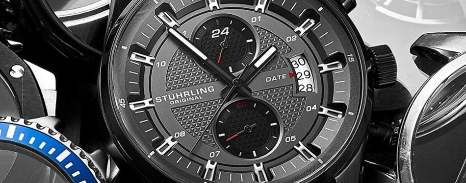 True Dual Time Zone Sports Stuhrling Watch