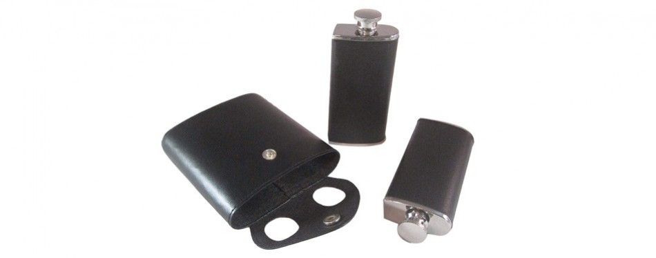 Twin Stainless Steel Hip Flask
