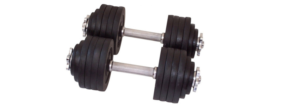 Unipack One Pair of Adjustable Dumbbells Kits