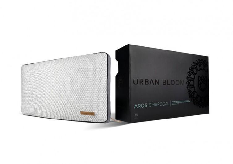 Urban Bloom Aros Charcoal Pillow