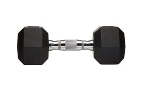 amazonbasics rubber encased hex dumbbell