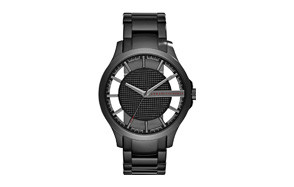 armani exchange men's black watch