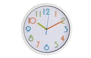 bernhard products colorful kids wall clock