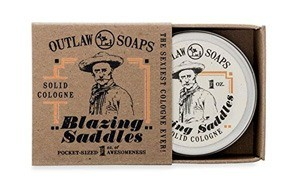 blazing saddles outlaw soaps solid cologne