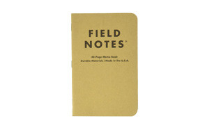field notes kraft ruled 3 pack